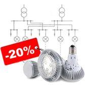 Монтаж электрического освещения со скидкой 20%