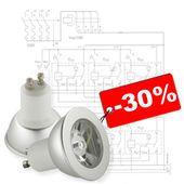 Обслуживание освещения в офисе, скидка 30%