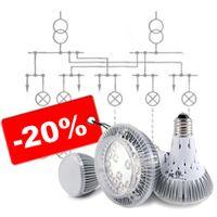 Монтаж электрического освещения, цена снижена на 20%