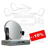 Обслуживание спутникового и кабельного телевидения -10%
