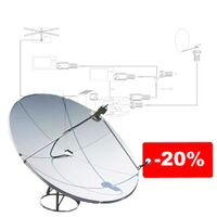 Установка спутникового телевидения со скидкой 20%