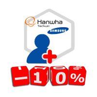Відеоспостереження від Hanwha Techwin (Samsung) зі знижкою 10%