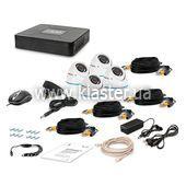 Комплект видеонаблюдения Tecsar 4OUT-DOME LUX