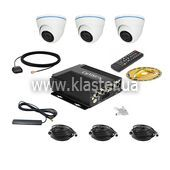 Комплект для транспорта CarVision MDVR004/3G/GPS Kit-3x