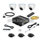 Комплект відеоспостереження  для транспорту CarVision MDVR004/W/3G/GPS Kit-3x