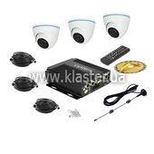 Комплект відеоспостереження  для транспорту CarVision MDVR004/W Kit-3x