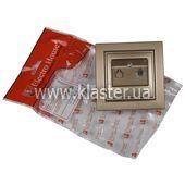 Розетка ElectroHouse телефонна золотий Enzo EH-2112-LG