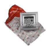 Розетка ElectroHouse телефонна срібло Enzo EH-2112-ST