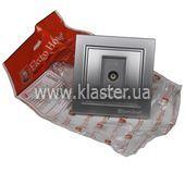 Розетка ElectroHouse телевизионная серебро Enzo EH-2113-ST
