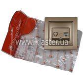 Розетка ElectroHouse компьютерная золотой Enzo EH-2114-LG