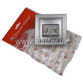 Розетка ElectroHouse компьютерная серебро Enzo EH-2114-ST