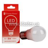 "LED лампа ElectroHouse ""куля"" E27 G45 8W (EH-LMP-12622)"