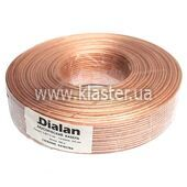 Акустичний кабель Dialan CCA 2x2,00 мм прозорий ПВХ 100 м (002120)