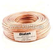 Акустичний кабель Dialan CU 2x0,75 мм прозорий ПВХ 100 м (006300)